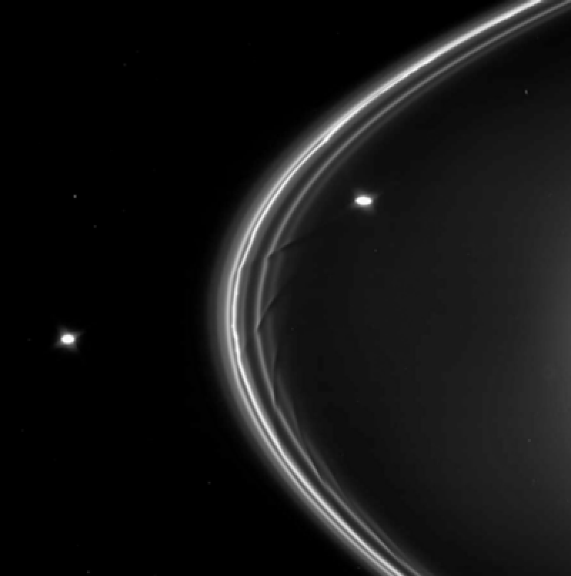 Prometheus around Saturns Rings
